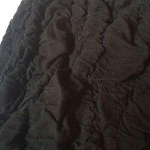 Material Girl Skirts - Black mini crinkle skirt